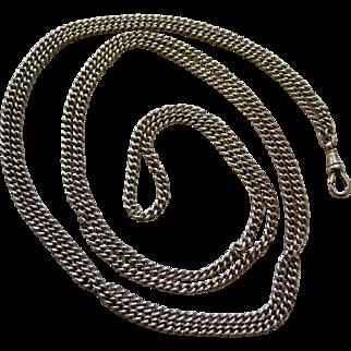 An Edwardian Sterling Silver Long Guard Chain. Circa 1902