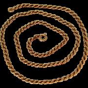 An Antique Austro-Hungarian 14ct Gold Rope Chain. Circa 1900.