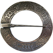 A Scottish Sterling Silver Ring Brooch by Alexander Ritchie. Circa 1924