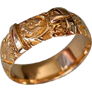 A Victorian 18 ct Gold Buckle Ring. Circa 1893.