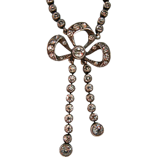 An Edwardian Sterling Silver and Paste Négligé Necklace. Circa 1910