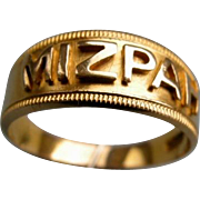 A Victorian 18ct Gold MIZPAH Ring. Circa 1885.
