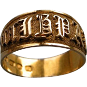A Victorian 18 ct Gold MIZPAH Ring. Circa 1885