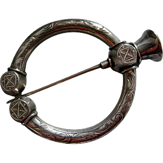 A Scottish Sterling Silver Ring Brooch. Circa 1860