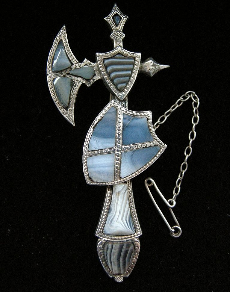 A Scottish Sterling Silver Pebble Brooch, Circa 1890.