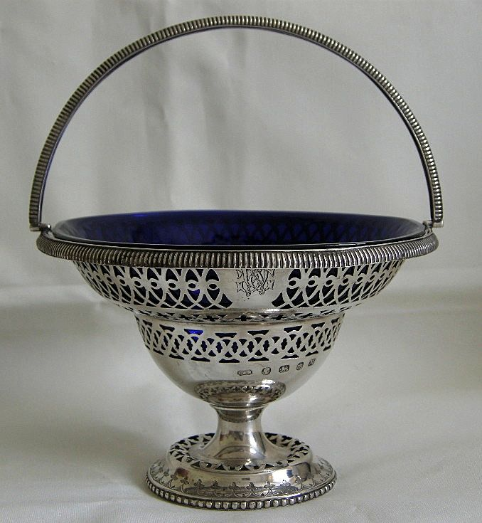 A Mid-Victorian Sterling Silver Basket. Circa 1861.