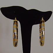Gold-Tone Pierced Hoop Earrings