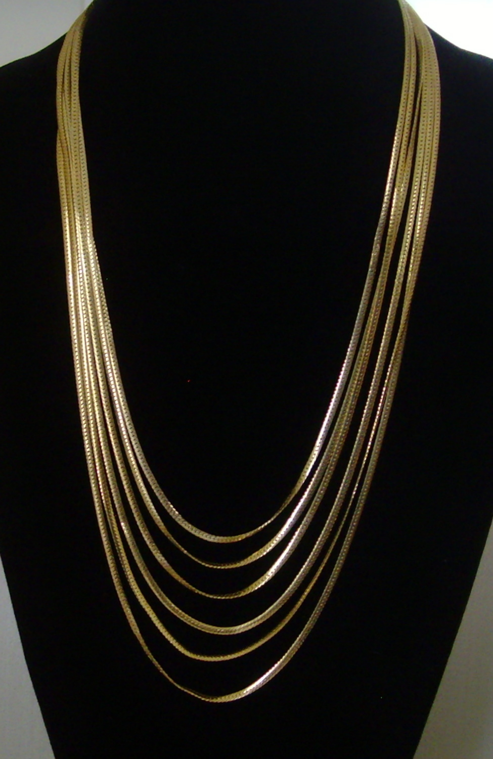 Anne Klein Gold-Tone Six Strand Serpentine Chain Necklace