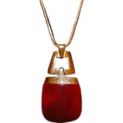 Trifari Modernist Lucite Pendant Necklace