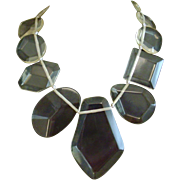 Clear Lucite Massive Bib Necklace