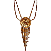 Goldette Waterfall Pendant Necklace