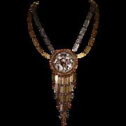 Goldette Gold-Tone and Silver-Tone Pendant Necklace