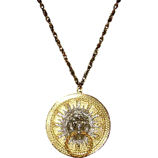 Kenneth Lane Lion Head Necklace