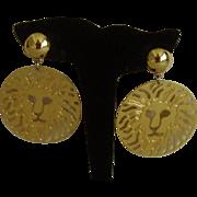 Anne Klein Dangle Disc Style Clip-On Earrings