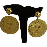 Anne Klein Dangle Disc Style Clip-On Earrings