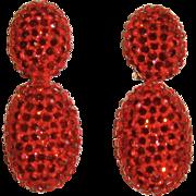 Richard Kerr Red Crystal Dangle Earrings
