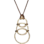 Castlecliffⓒ Gold-Tone and Clear Rhinestone Pendant Necklace