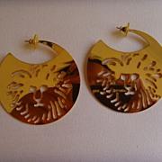 Anne Klein Gold-Toned Pierced Hoop Earrings