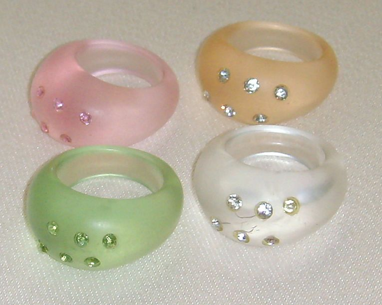 Vintage Lucite Rings 99
