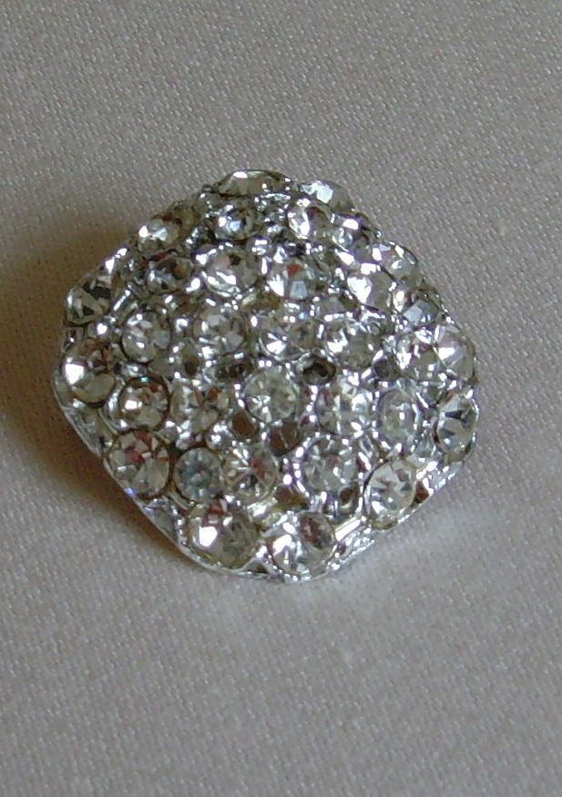 Vintage Rhinestone and Silver-Toned Brooch