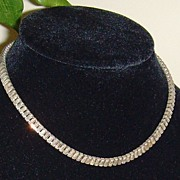 Baguette Cut Rhinestone Necklace