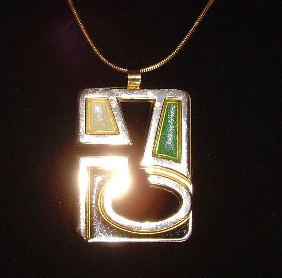 Lanvin Paris © Modernist Pendant Necklace