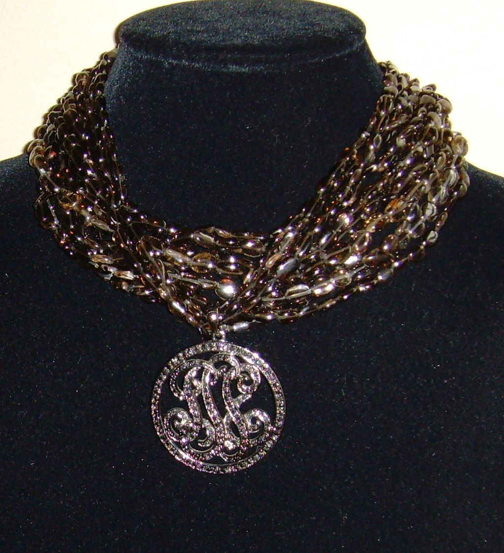 Kenneth J. Lane Lucite and Marcasite Necklace