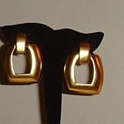 Matte Gold-Tone Dangle Earrings