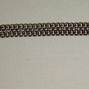 Silver-Tone Flat Curb Link Bracelet