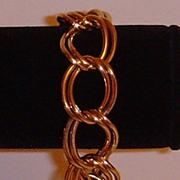 Gold-Tone Double Link Bracelet