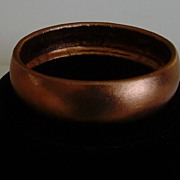 Bronze Metallic Colored Leather/Pleather Bangle