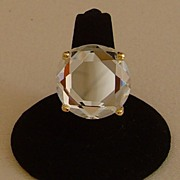 Kate Spade Clear Lucite and Gold-Tone Ring