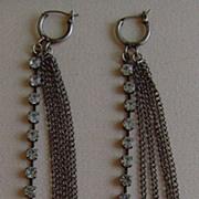 Antique Silver-Tone Shoulder Duster Earrings