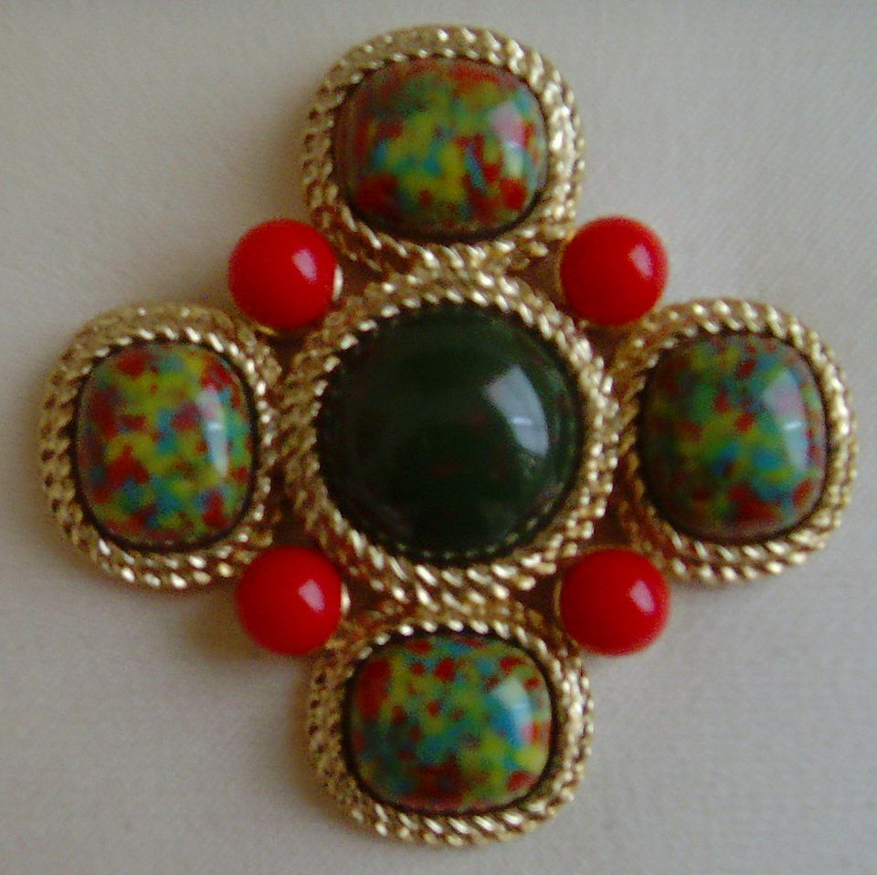 Sarah Coventry Mosaic Brooch