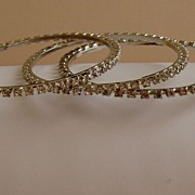 Rhinestone Vintage Bangle Bracelets (Set of 3)