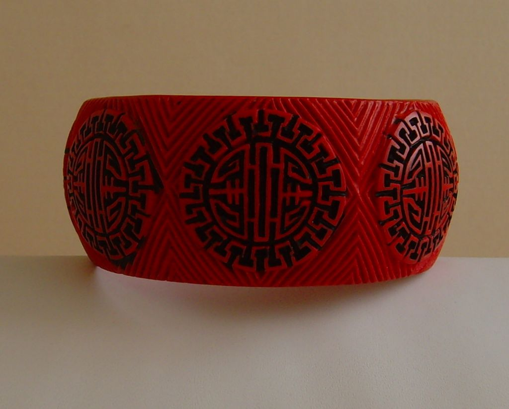 Asian Motif Lucite Bracelet