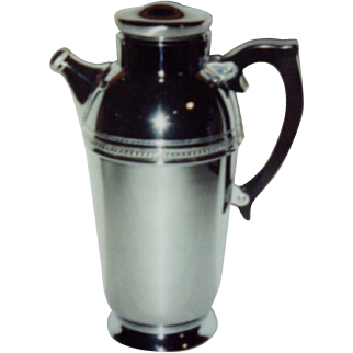 Farber Bros-Krome Kraft Cocktail shaker with six cordials.