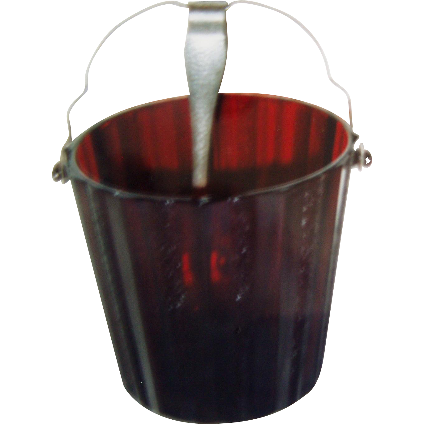 Ruby Red Ice Bucket