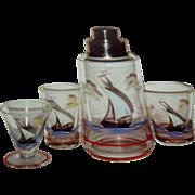 Hand painted sailboat shaker