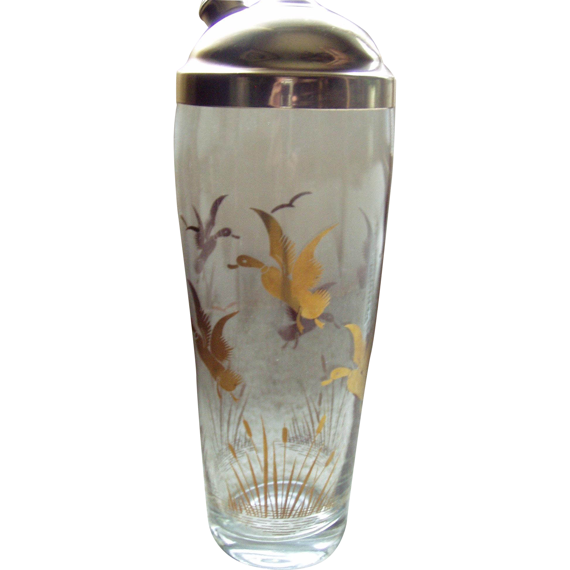 Glass shaker with geese