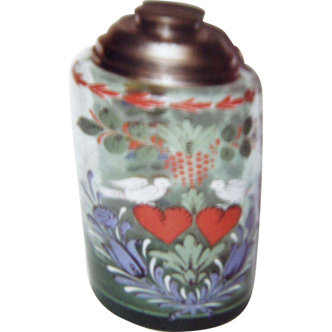 Hand Painted Glass Shaker
