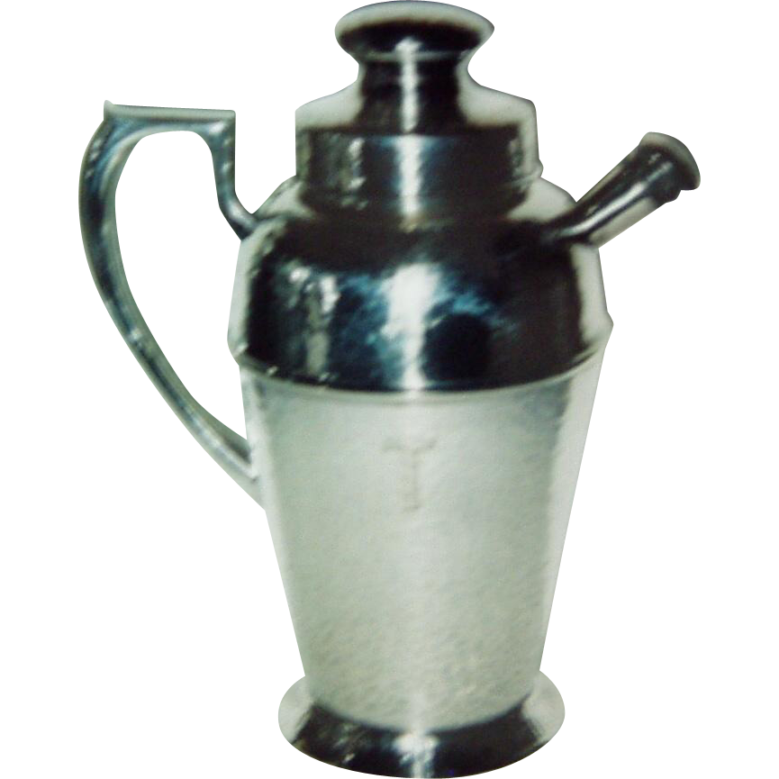 "Brice's Sons Cocktail Shaker with monogram ""T"""