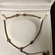 Victorian/Edwardian 18 & 22K Lavalier Necklace