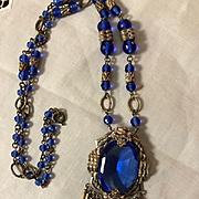 Art Deco Signed Czech Glass Necklace