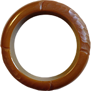 Caramel Bakelite Carved Bracelet