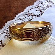 Bates and Bacon Edwardian Wide Gold Filled Bangle
