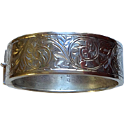 Art Deco English Sterling Bangle Bracelet