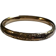 Edwardian Gold filled Bangle