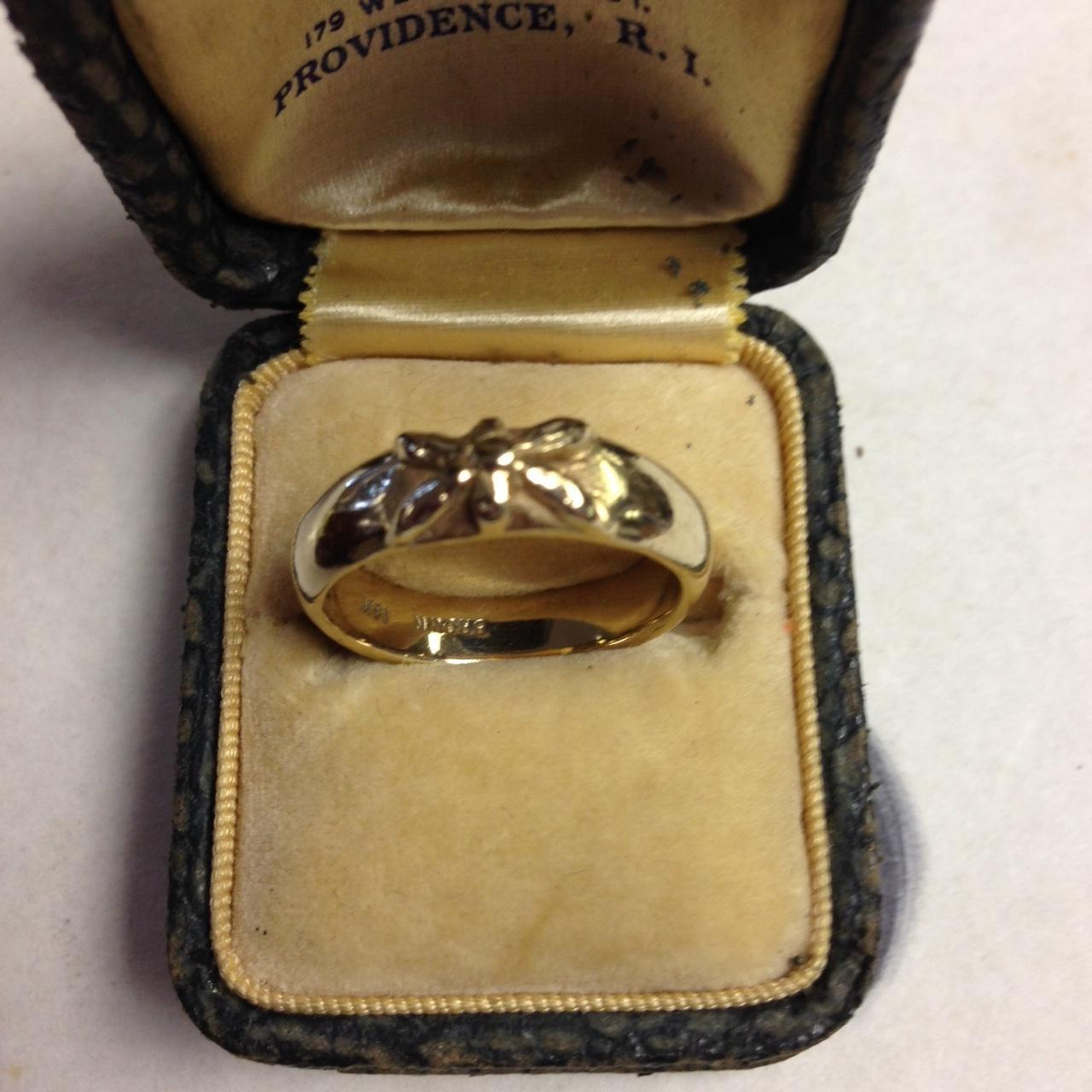 14K Butterfly Band Ring