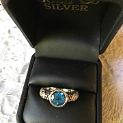 Candela 18K/Sterling Blue Topaz and Diamond Ring